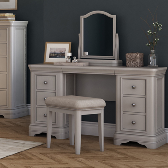 Mabel Wooden Dressing Table In Taupe_2