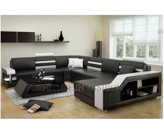 macinni sectional sofa black white - Pros And Cons Of Leather Curved Sectional Sofas