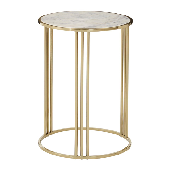 Gudja Round Side Table In Gold      _2