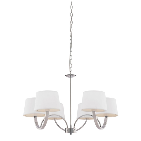 Macy Wall Hung Pendant Light In Chrome