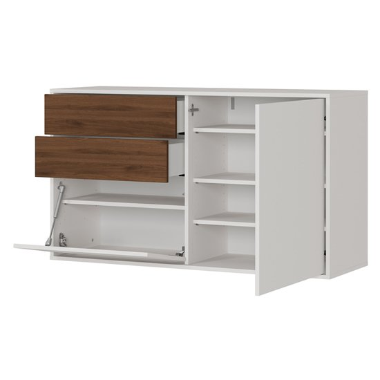 Madeo Shoe Storage Cabinet In Cashmere And Walnut_2