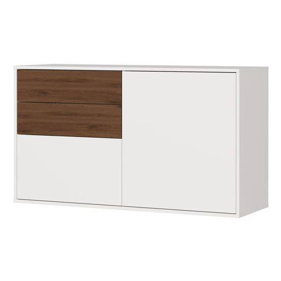 Madeo Shoe Storage Cabinet In Cashmere And Walnut_1