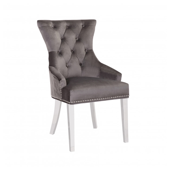 Madison Grey Velvet Dining Chairs In Pair_2