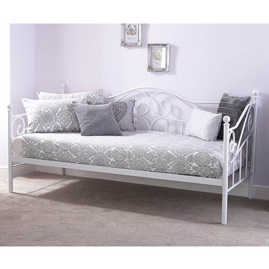 Madison Metal Single Day Bed In White