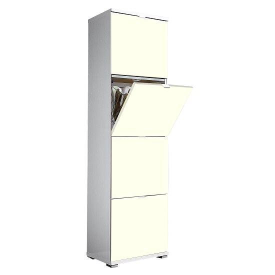 Madison Large Shoe Storage Cabinet With Vanilla Fronts