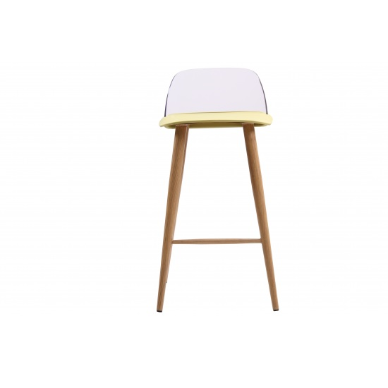 Madisson Lime Bar Stool With Oak Look Metal Legs In A Pair_3