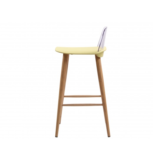 Madisson Lime Bar Stool With Oak Look Metal Legs In A Pair_2