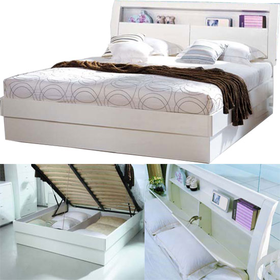 madrid bed wht - Buying Bedroom Furniture Online