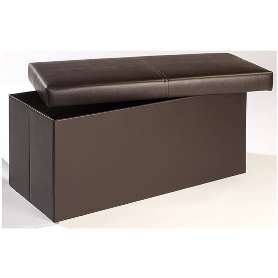 Madrid Large Storage Ottoman In Brown