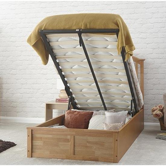 Madrid Ottoman Wooden Single Bed In Natural Oak_2