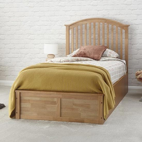 Madrid Ottoman Wooden Single Bed In Natural Oak_1