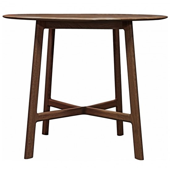 Madrid Round Wooden Dining Table In Walnut