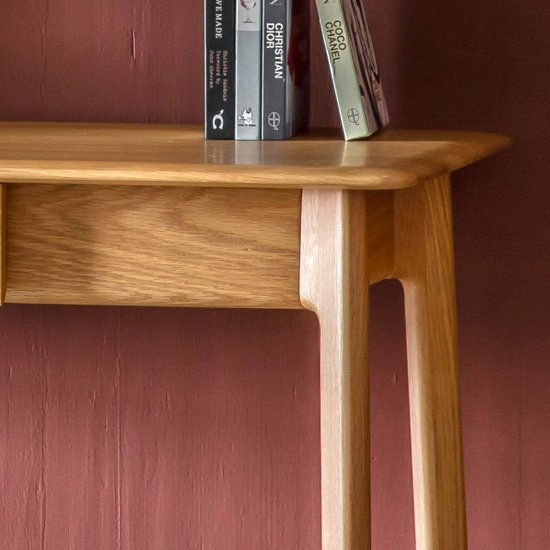 Madrid Wooden 1 Drawer Laptop Desk In Oak_2