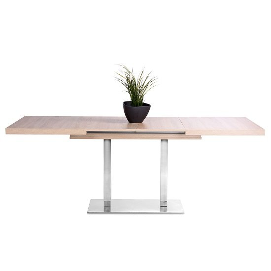Madsen Wooden Extending Dining Table In Sonoma Oak_2