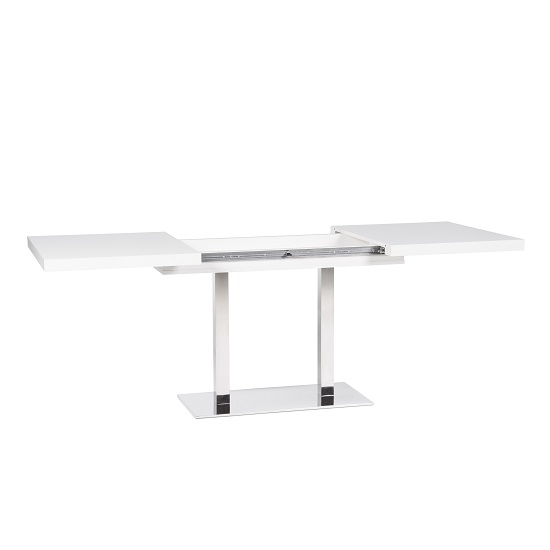 Madsen Wooden Extending Dining Table Rectangular In White_2