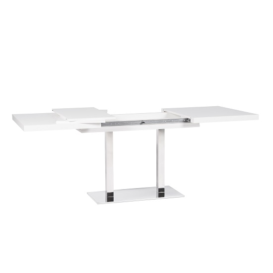 Madsen Wooden Extending Dining Table Rectangular In White_3