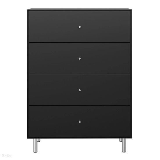 View Maga wooden tall chest of drawers in matt black
