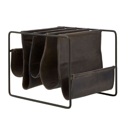 Magazine rack and holders in wooden, gloss and metal to create the perfect storage solution for your living room.