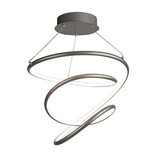 Magic LED Pendant Ceiling Light In Satin Silver And White