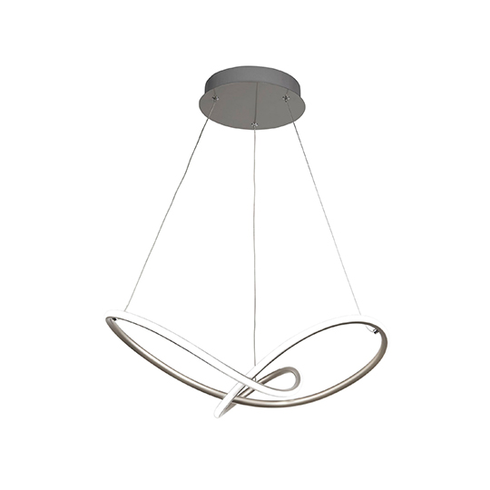 Magic LED Pendant Ceiling Light In Satin Silver