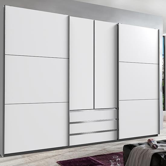 View Magic wooden sliding door wardrobe in white