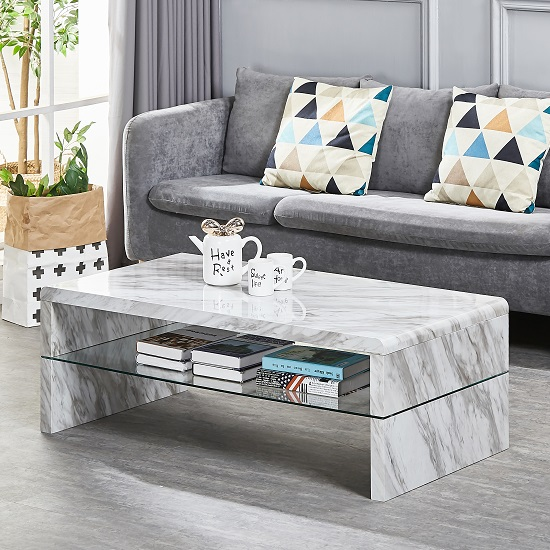 23% Off Marbella Coffee Table In Grey High Gloss Marble Effect: LoveHomeStyle