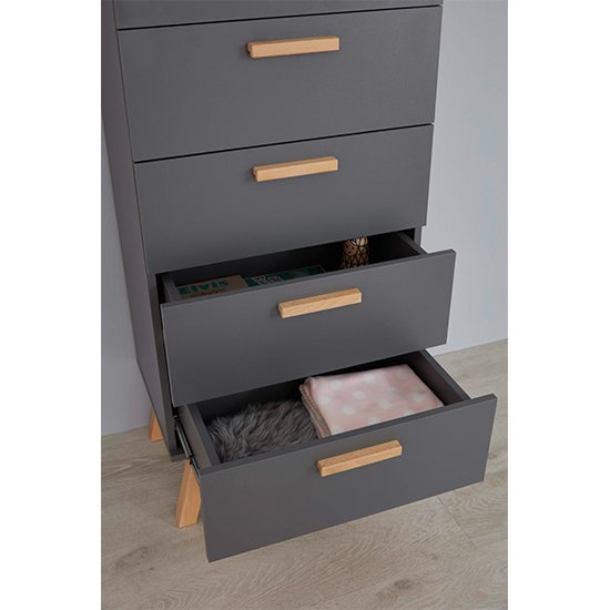 Magz Kids Room Wooden Chest Of Drawers In Grey_3