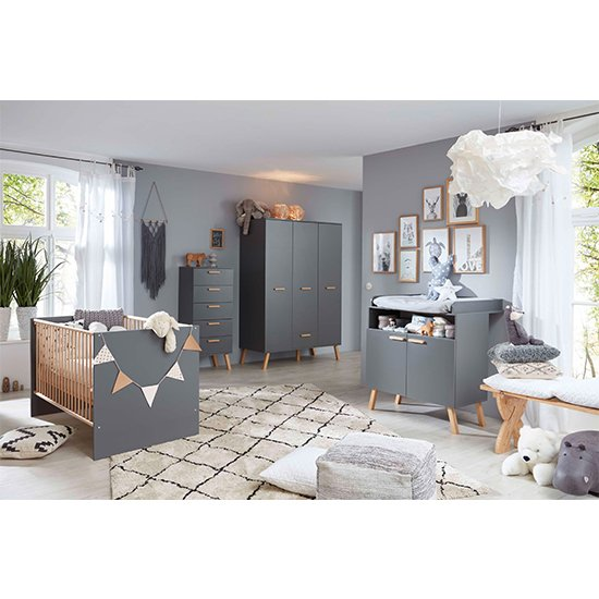 Magz Kids Room Wooden Chest Of Drawers In Grey_5