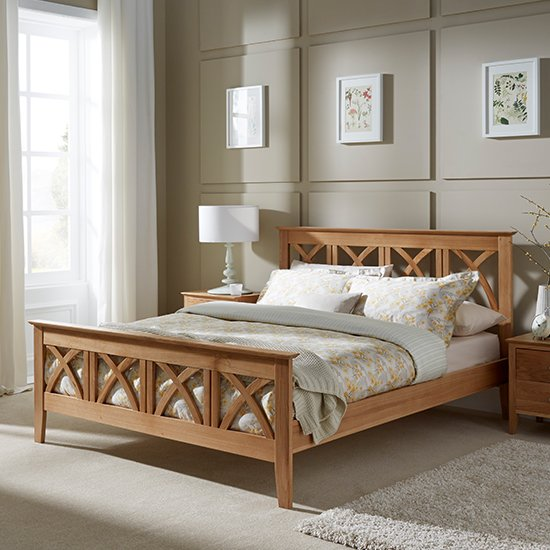 Maiden Wooden Super King Size Bed In Oak
