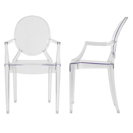 Lilly Clear Dining Room Chair A Pair