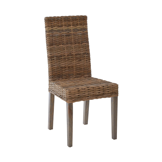Helvetios Kubu Rattan Dining Chair In Natural
