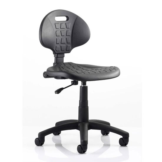 Malaga Task Wipe Clean Office Visitor Chair In Black No Arms_1