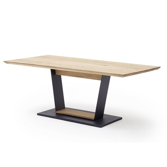 Malambo Small Wooden V-Leg Dining Table In Beech Heartwood_2