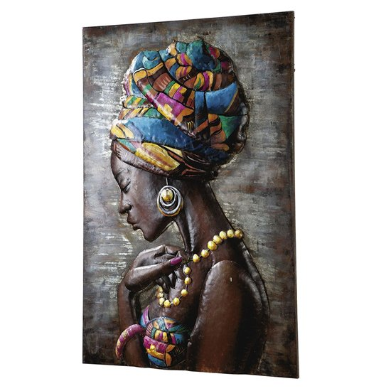 Maleika Picture Metal Wall Art In Multicolor And Brown_2