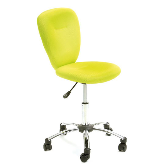 Mali Fabric Height Adjustable Office Chair In Green