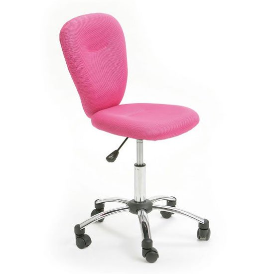 Mali Fabric Height Adjustable Office Chair In Pink