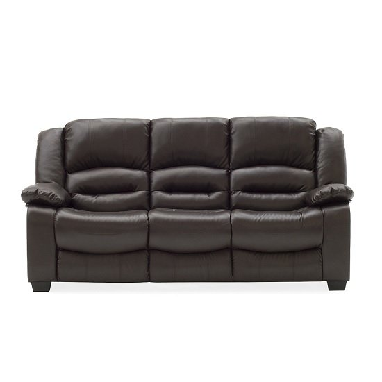 Malou 3 Seater Sofa In Brown Faux Leather