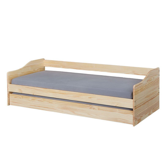 Malte Wooden Children Single Bed In Natural Oak