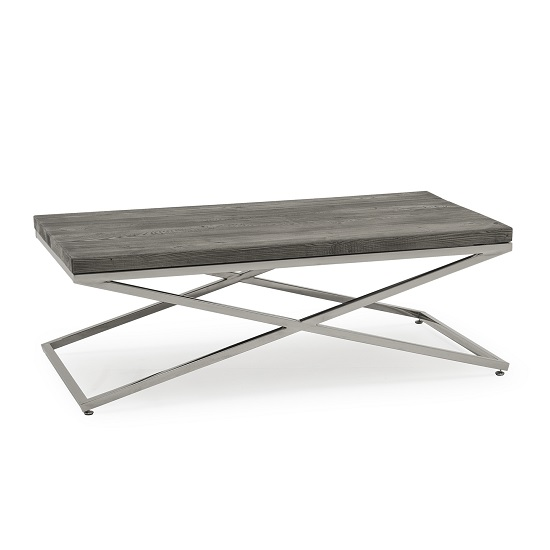 Malta Wooden Coffee Table In Grey With Stainless Steel Legs_2