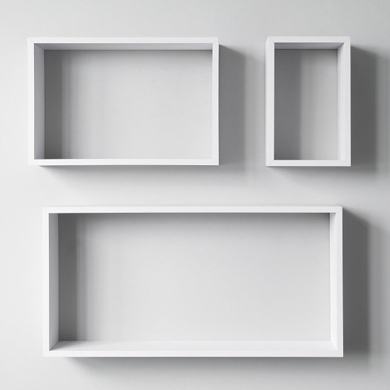 Malvern Contemporary Set Of 3 Shelving Unit In White_2