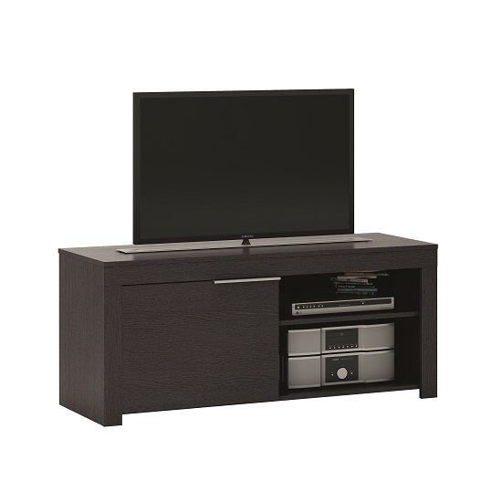 Malvern Wooden TV Stand In Ebony With 1 Door
