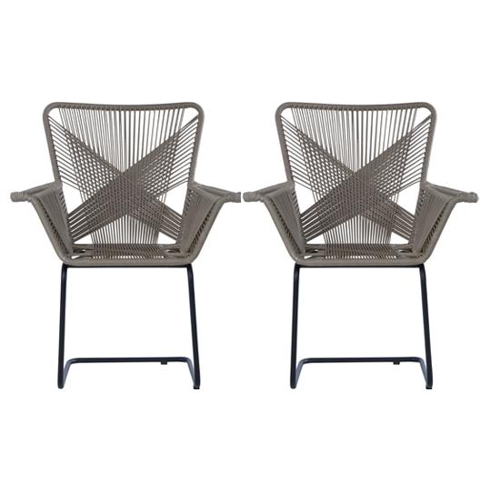 View Hunor kubu rattan effect chair in pair