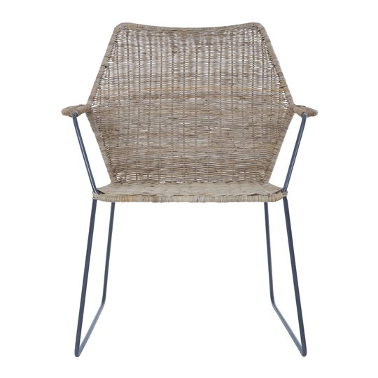 Manado Natural Rattan Angled Design Chair