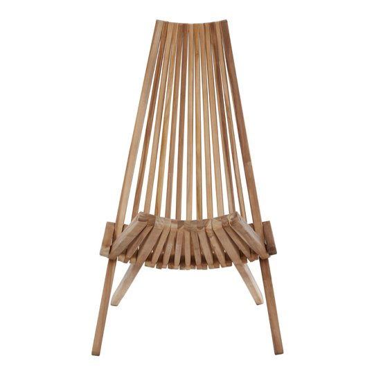 Manado Teak Wooden Lounge Chair In Natural Finish