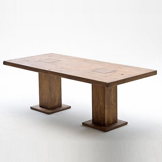 Mancinni 260cm Wooden Pedestal Dining Table