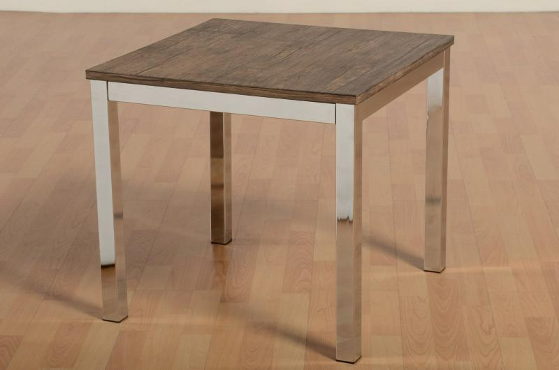 Tokyo Lamp Table, Walnut Effect Veneer/Chrome