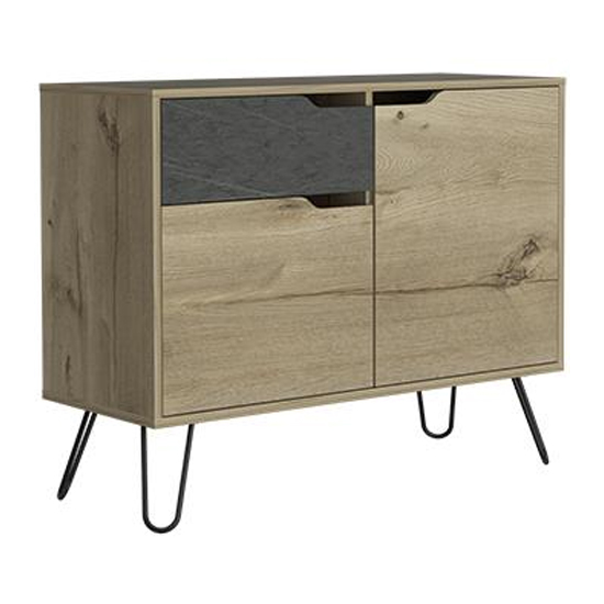 Manhatten Small Sideboard With 1 Door And 3 Drawers