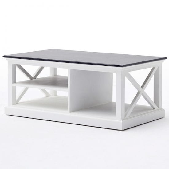 Wood For Coffee Table Top: Allthorp Solid Wood Coffee Table Rectangular In White And
