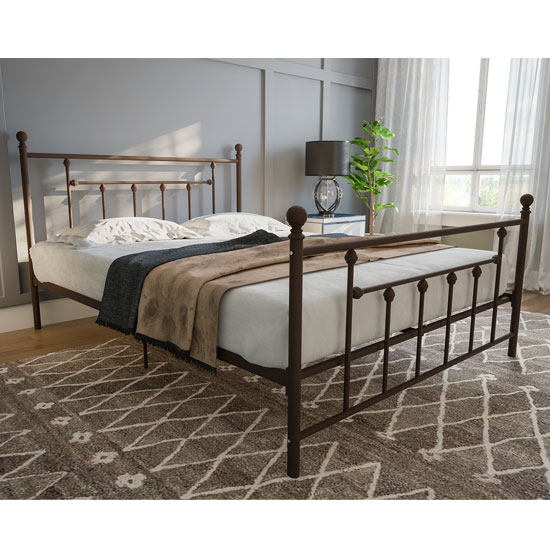 Manila Metal Double Bed In Bronze