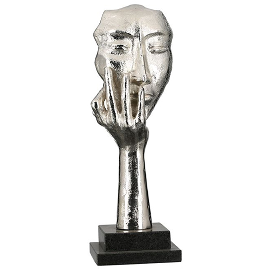 View Mannequin aluminium sculpture in antique silver and black